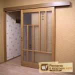 Двери межкомнатные откатные: конструкция, материалы
