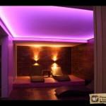 Светодиодная подсветка натяжного потолка. Её виды и интерьерные решения