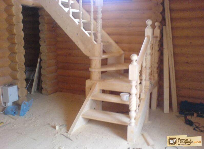 Монтаж деревянной лестницы своими руками фото