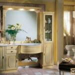 Классическая мебель для ванной комнаты: её особенности и декор