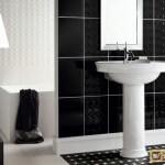 Ванная в черно – белом цвете. Советы по дизайну и декору