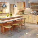 Как разместить мебель на кухне?