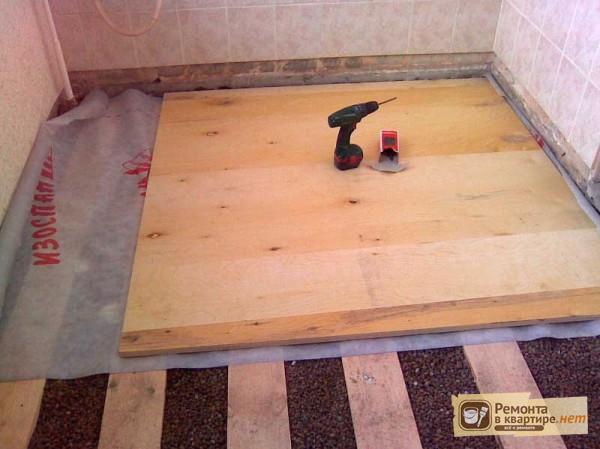 Стяжка пола в деревянном доме под плитку