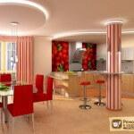 Гипсокартонные потолки на кухне: советы по их дизайну и оформлению