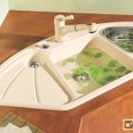 Эмалированная раковина для кухни