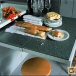 Выдвижные кухонные столы. Различные их вариации