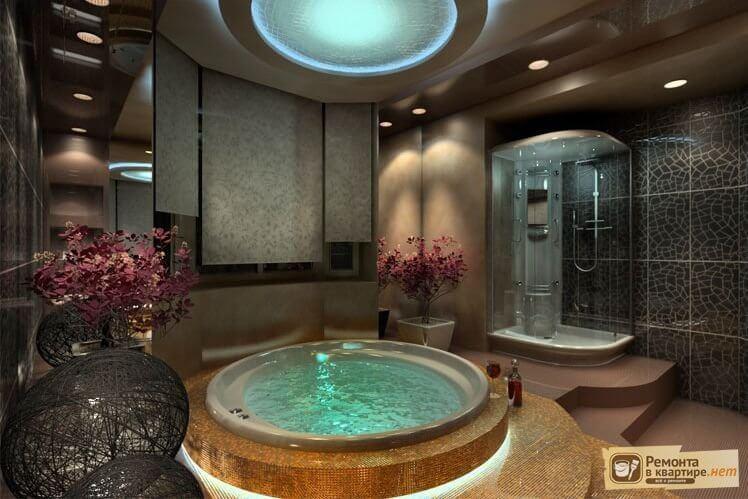 Дизайн ванный с джакузи