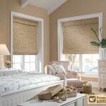 Бамбуковые римские шторы — цветовые и дизайнерские решения