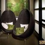 Плетеное подвесное кресло: материалы, формы