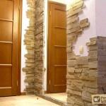 Отделка входной двери камнем. Натуральный или искусственный – что выбрать?
