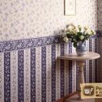 Дизайн оклейки стен разными обоями