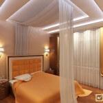 Гипсокартонные потолки в спальне. Варианты исполнения, монтаж