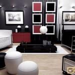 Сочетание черного цвета в интерьере