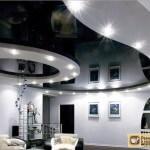 Черно белый натяжной потолок
