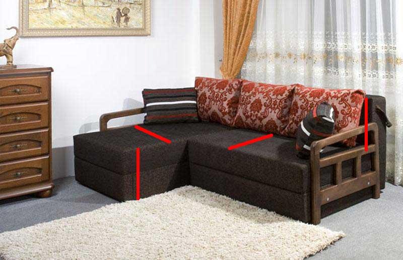 Замер дивана для пошива дивандека своими руками