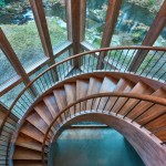 Круглая лестница. Её преимущества и недостатки, декоративная функция