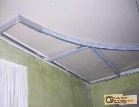 Как сделать двухуровневый потолок из гипсокартона своими руками фото