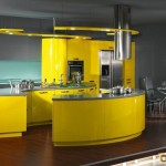Кухонный гарнитур желтого цвета: сочетания, стили