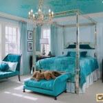 Бирюзовый интерьер спальни: его влияние, удачные сочетания