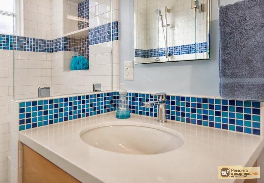 Ванна с плиткой мозаикой дизайн