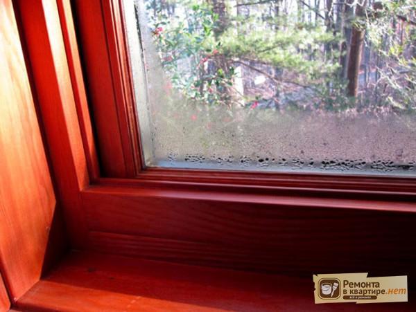 Деревянные окна потеют - что делать?