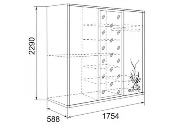 Устройство корпусного шкафа-купе (схема)