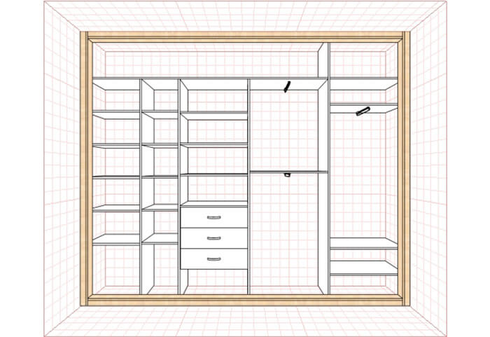 Шкафы купе дизайн в гостиную внутреннее наполнение с размера.
