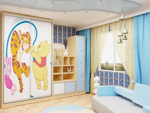 Шкаф-купе в интерьере детской
