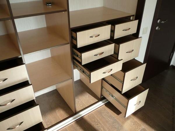 Внутренне устройство шкафа купе - ящики