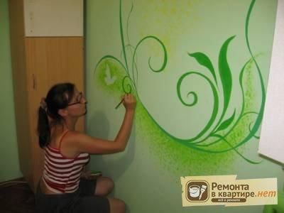 Покраска стен своими руками для начинающих