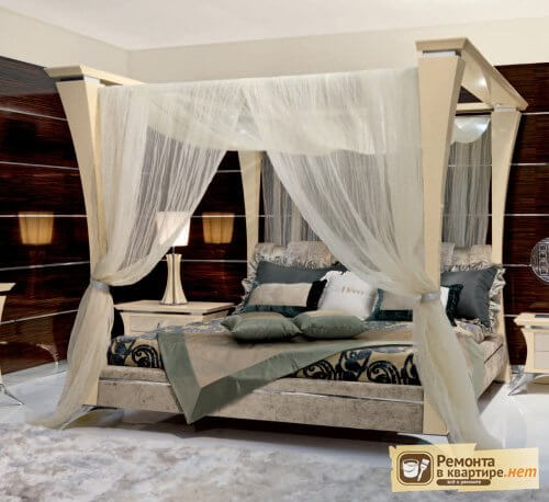 Кровати двуспальные с балдахином