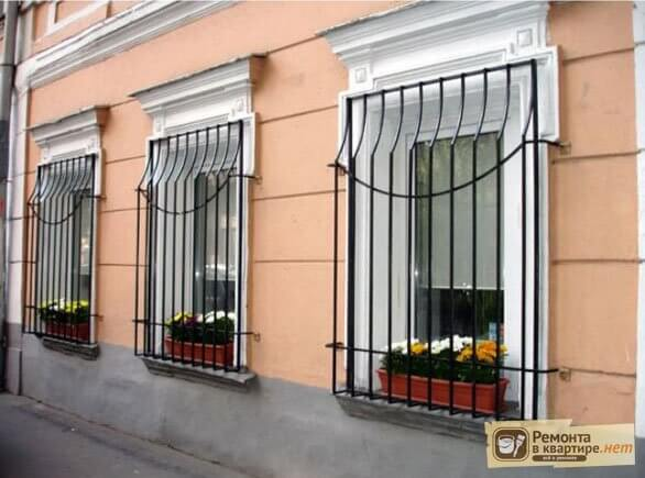 фото решетки на окна сварные